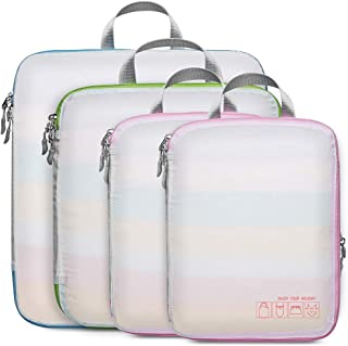Packing Cubes for Travel, F-color Compression Expandable Packing Bags Organizers