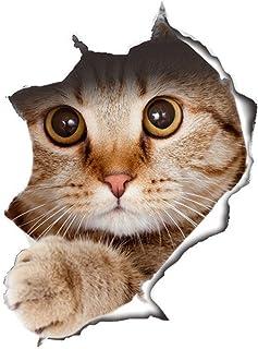 WandSticker4U® - Pegatina de gato en efecto 3D 21 x 29 cm autoadhesiva resistente al agua