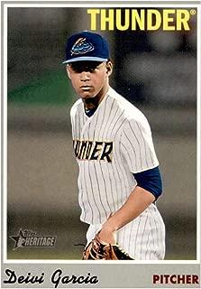 2019 Topps Heritage Minor League #37 Deivi Garcia Trenton Thunder Baseball Card