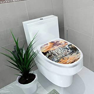 Auraise-home Bathroom Toilet The Horses Running from Waves Vinyl Decal Sticker W6 x L8