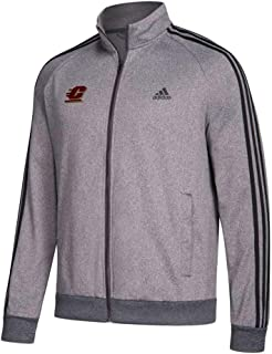 adidas Central Michigan Chippewas NCAA Men's Team Logo Dark Grey Heather Full-Zip 3-Stripe Track Jacket