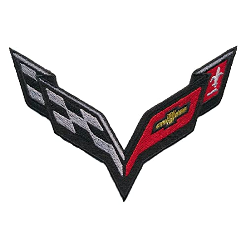 5 LOT CORVETTE CHEVROLET Embrodered Iron Or Sewn On Patches Free Ship