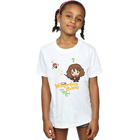 HARRY POTTER niñas Hermione Granger Wingardium Leviosa Junior Camiseta 7-8 Years Blanco