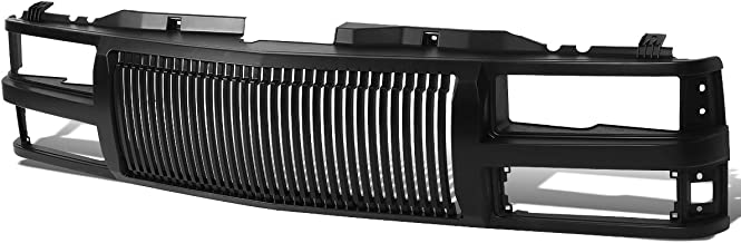 Black Front Bumper Vertical Fence Style Grille for Chevy C10 C/K-Series Suburban 1500 2500 Tahoe