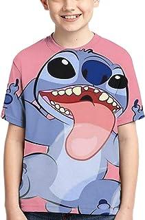 guoweiweiB Camisetas de Manga Corta para niño, STI-tchs T-Shirt Tops Child tee Shirts Junior