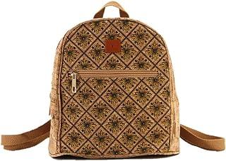Nakalara kleiner Rucksack für Mädchen, aus Korkleder, leicht, umweltfreundlich, nachhaltig, weich und langlebig, handgefer...