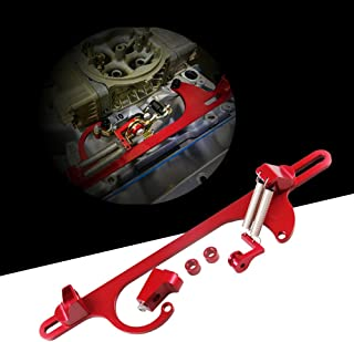 Alpha racing 4150 4160 Series Aluminum Anodized Throttle Cable Bracket Adjustable Red