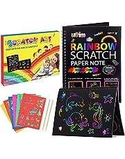 Dreamingbox 2 pièces Carte a Gratter Enfant (23 * 16cm), DIY Papier kit pour Enfants Cadeaux et Jouets
