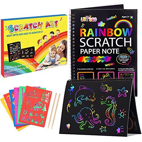 Dreamingbox Scratch Art for Kids, Rainbow Scratch Paper for Kids Art Set for Kids Toys for Girls Age...