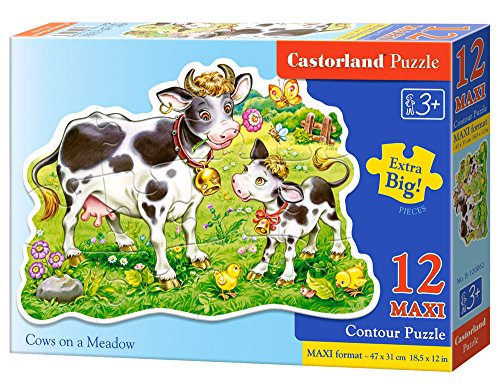 Castorland - Mucche su Un Prato, Puzzle di 12 Pezzi Maxi