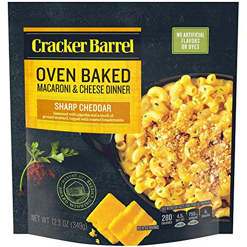 Cracker Barrel Oven Baked Sharp Cheddar Macaroni and Cheese Dinner (12.3 oz Pouch)