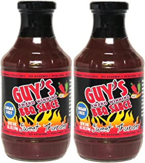 Guy's Award Winning Sugar Free BBQ Sauce - 2 Pack - Sweet Thunder