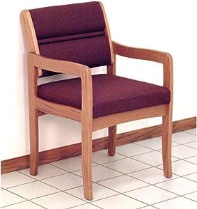 Wooden Mallet Valley Guest Leg Chair, Standard, Light Oak, Cabernet Burgundy