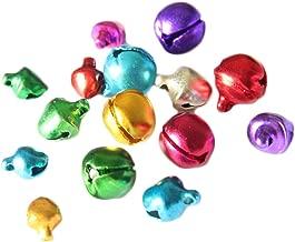 MagiDeal 10pcs Clochette de Jingle Belle No/ël 40mm Multicolore Porte-Cl/és Breloque