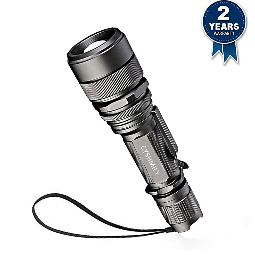 3 Mode XML-T6 1000LM Outdoor Metal LED Torch Zoomable Flashlight Camping