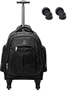 7fd5f7b65415 Racini Business Travel Nylon Waterproof Rolling Backpack