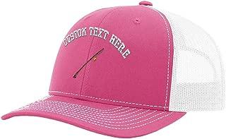 Custom Richardson Trucker Hat Sport Fly Fishing Rod Embroidery Design Polyester