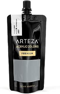 ARTEZA Acrylic Paint Cold Gray Color (120 ml Pouch, Tube)