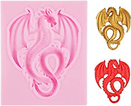 Delidge 3D Animal Dragon Food Grade Silicone Mold,Soap Ice Cake Mold,Sugarcraft Tool,Chocolate Candy Fondant Press Cake Tool,Kitchen Cooking Bakeware Decorating Tool(color random)