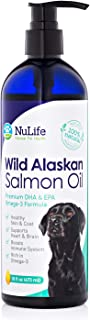 Wild Alaskan Salmon Oil for Dogs, Omega 3 Fish Oil Liquid, Skin and Coat Supplement for Shedding, Dry Itchy Skin, Allergie...