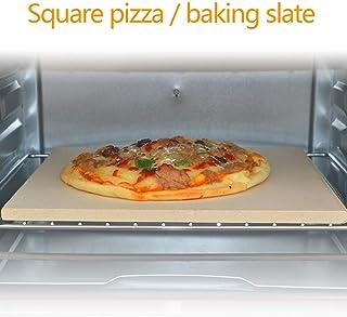 wansosuper Piedra De Pizza,Piedra De Pizza para Horno,Piedra Rectangular para Pizza,Adecuado para Pollo Asado/Pizza A La Parrilla/Kebab/Filete A La Parrilla,Beige-380 * 300