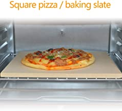 Pizza Stone,Pizza Stone For Bbq,Oven Pizza Stone,Square Pizza Plate Pizza Stone Grilled Plate Pizza Dish,Suitable For Roas...