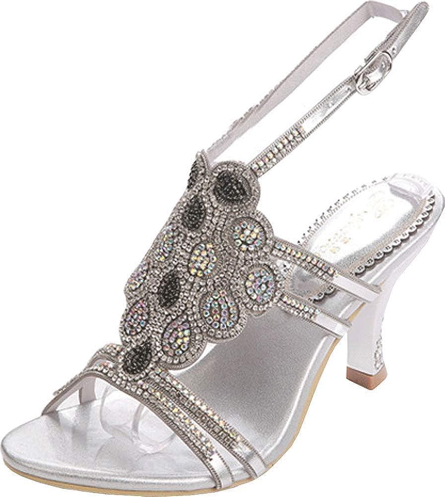 Surprise price Salabobo L021 Womens Roman Dallas Mall High-Heeled Glaring Sandals Peep Toe
