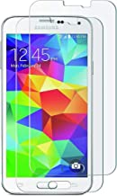 OMOTON Samsung Galaxy S5 Glass Screen Protector [2 Pack] - [2.5D Round Edge] [9H Hardness] [High Definition] [Bubble Free] Tempered Glass Screen Protector for Samsung Galaxy S5, 5.1 Inch