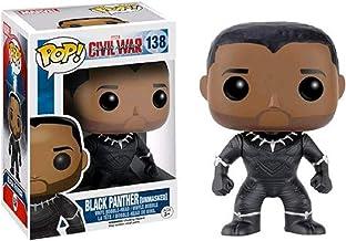 Funko - Figurine Marvel - Civil War - Black Panther Unmasked Exclu Pop 10cm - 0849803077198