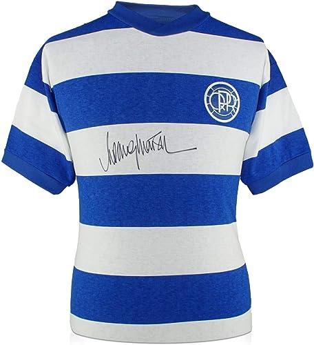Exclusive Memorabilia T-Shirt de Football Queens Park Rangers signé par Rodney Marsh