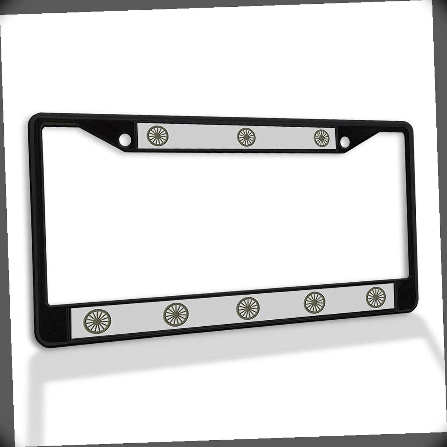 New License Cheap mail order specialty store latest Plate Frame Wagon Wheel Weatherproof Accessories Car
