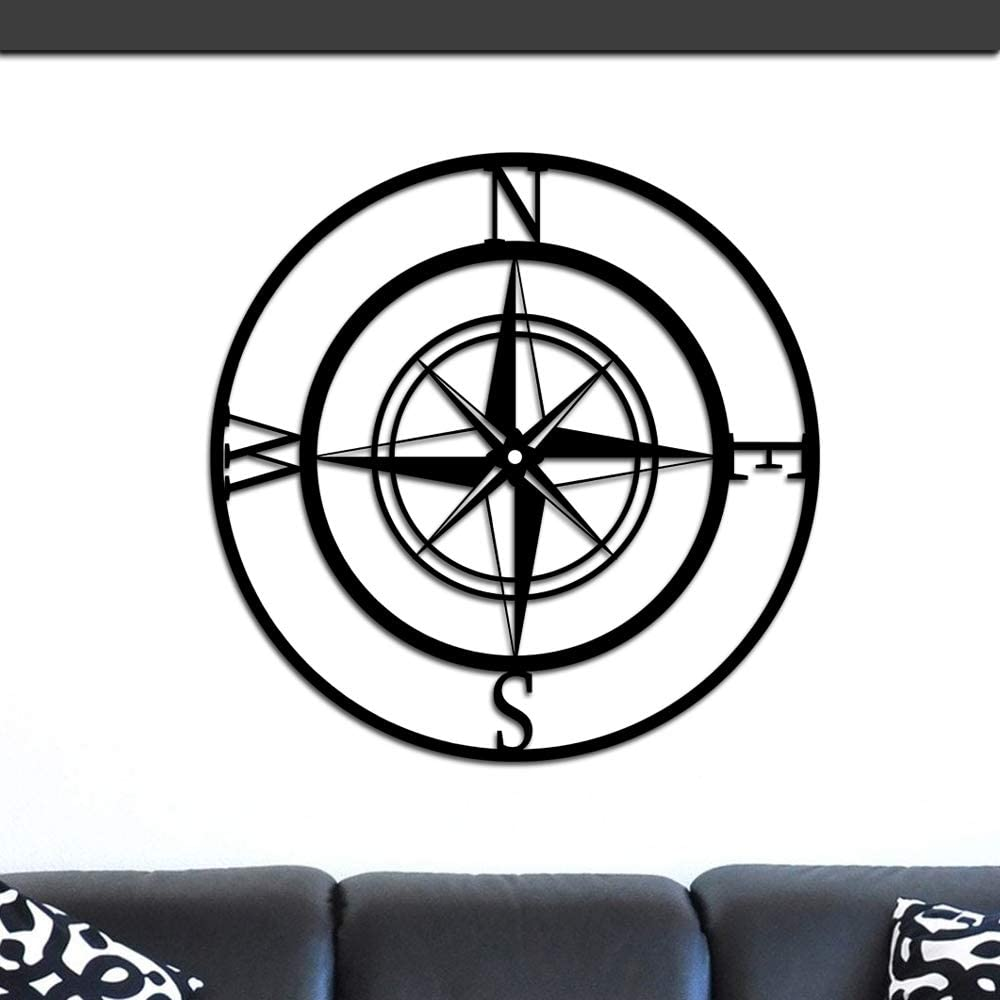 Nautical Compass Rose Directly managed store Metal Wall Hanging Art Outdoor Don't miss the campaign Indoor