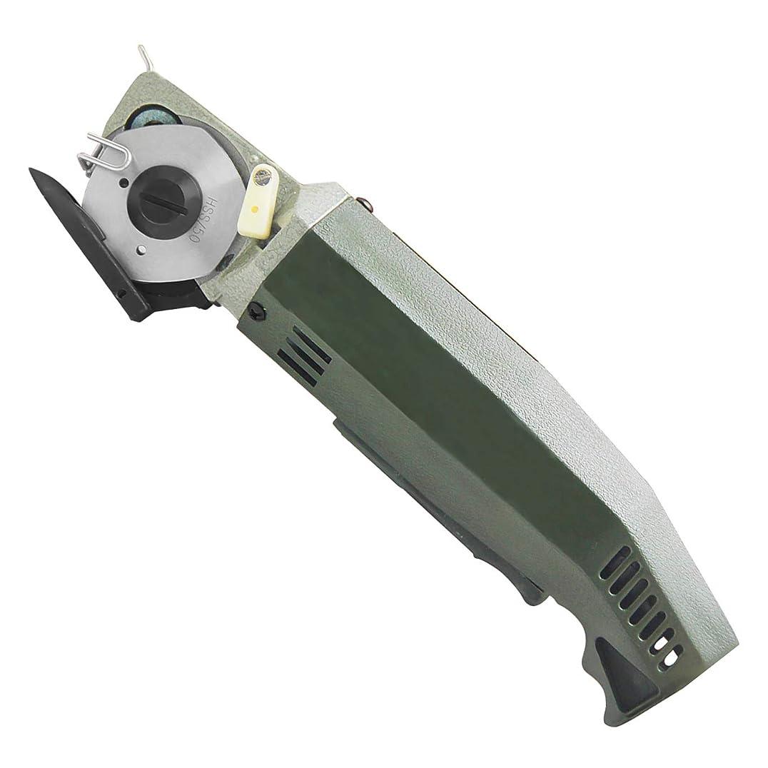 医薬記念碑的な事前にHanchen 電動カッター 切断厚み10mm(0.39インチ) 手持ち式切断機 厚手の布/レザー/合皮/雑材などを切る用に Φ50mm替刃 YJ-50 (110V)
