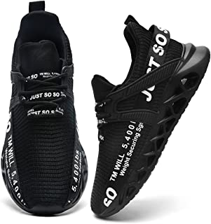 Mens Fashion Sneakers Running Shoes Tennis Casual Walking Workout Athletic Gym Cross Training Sport Lightweight Breathable Comfortable Shoes