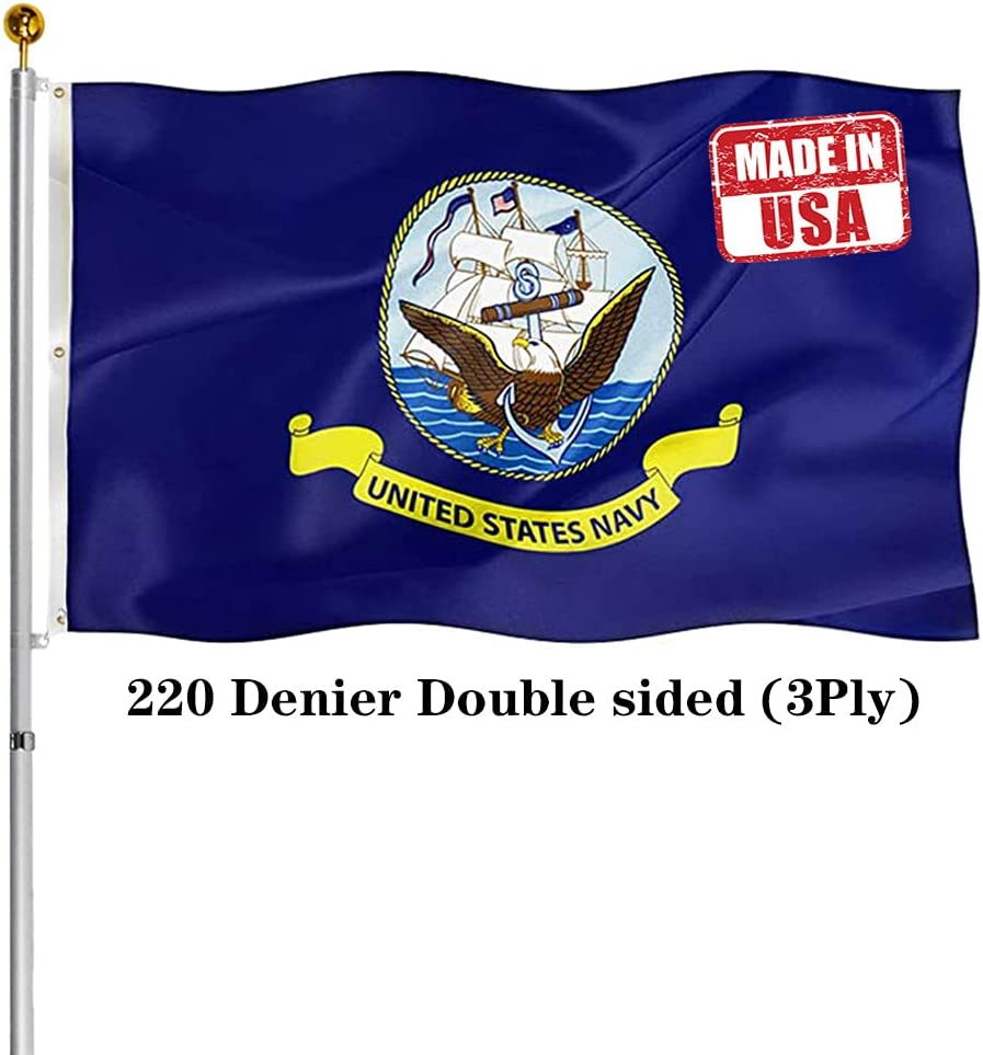 Hypoth Double Sided US Navy Flag 3x5ft Fade Resistan Outdoor- Selling New Orleans Mall UV