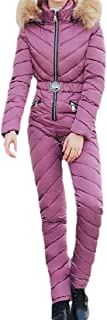 Howely Womens Slim Fitting Hood Warm Jumpsuit Romper Winter Thick Coat