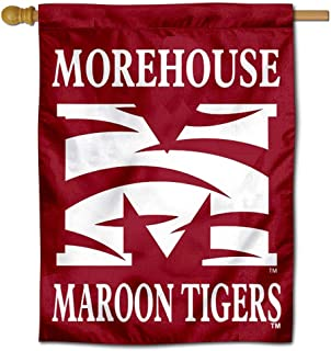 College Flags and Banners Co. Morehouse Maroon Tigers Double Sided House Flag