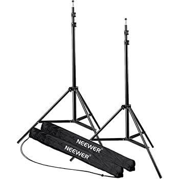 Neewer 7 Feet / 210cm Aluminum Alloy Photography Photo Studio Light Stands for Video, Portrait and Photography Lighting, Reflectors, Soft boxes, Umbrellas, Backgrounds (2 Pieces)