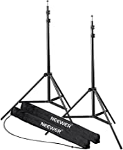 Neewer® 7 Feet / 210cm Aluminum Alloy Photography Photo Studio Light Stands for Video, Portrait and Photography Lighting, Reflectors, Soft boxes, Umbrellas, Backgrounds (2 Pieces)