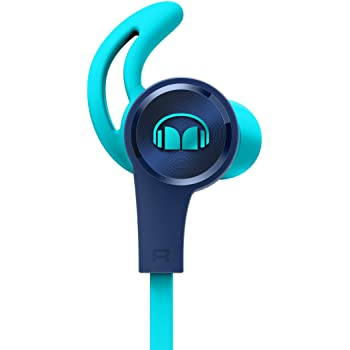 Monster iSport Achieve Headphones with Mic - in-Ear with Mic - Blue