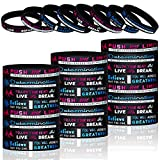 Cheerleading Inspirational Silicone Wristbands Stretch Motivational Bracelets Cheerleading Rubber Bands with Motivational Message for Cheer Squad Party Favors (32 Pieces)