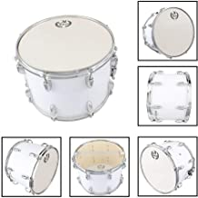 Yoshioe 14 X10 Inches Student Marching Snare Drum Kids Percussion Kit White with Drumsticks Strap