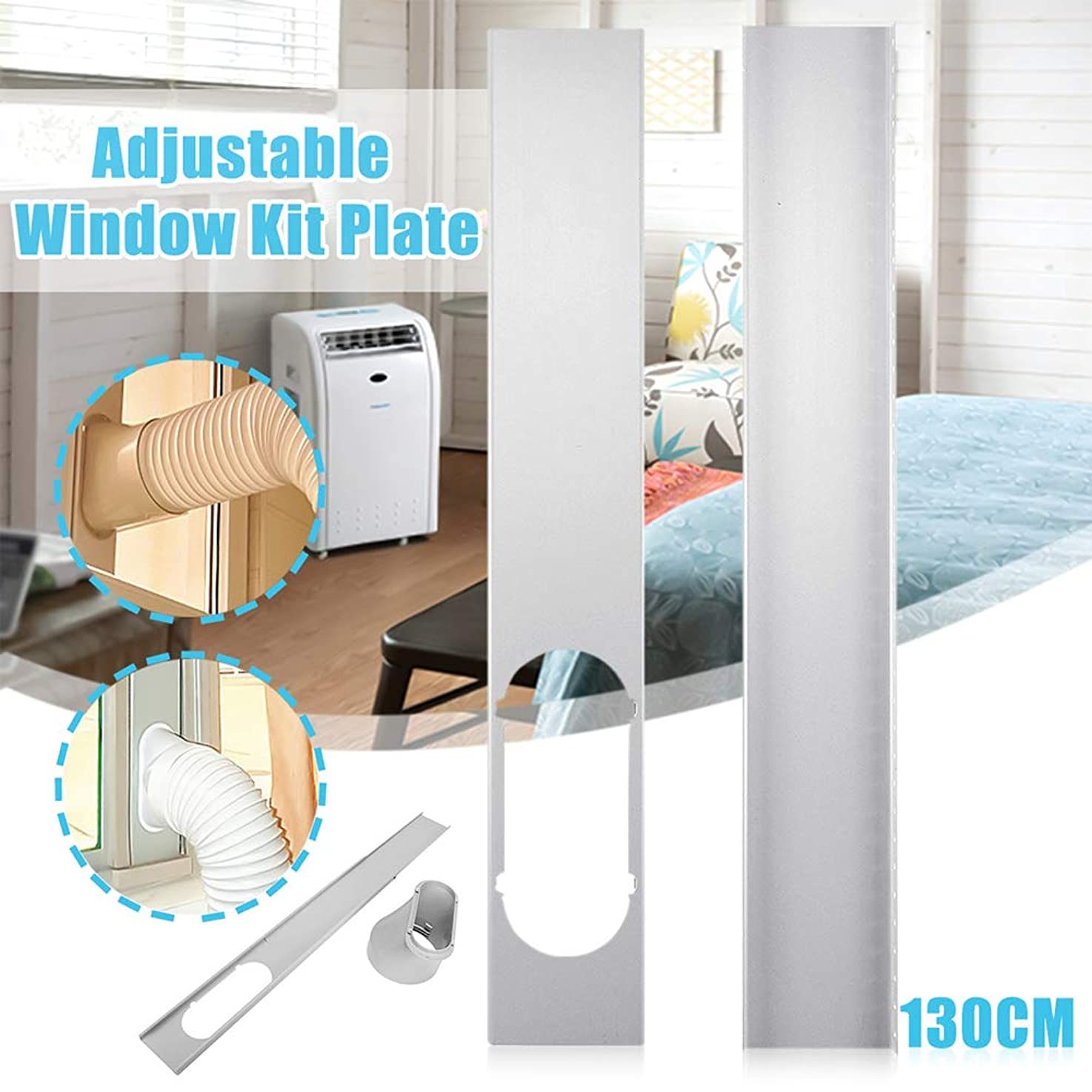bromrefulgenc Universal Window Seal,Window Kit Plate for Air Conditioner and Tumble Dryer-Works with Every Air-Conditioning Unit - Air Exchange Guards and Adhesive Fastener 2# nehicksblznle4