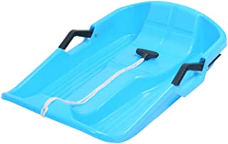 tanbea-UK Kids Snow Tray Kids Children Snow Sledges Snow Sled Board,Snow Sled Portable Thicken Kids Adult Snow Sled Sledge Ski Board Sleigh Outdoor Grass Sand Slider Portable Rolling Snow gaudily