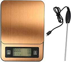Andoer Timed Hand Made Coffee Electronic Scale with Temperature Probe LCD Display Kitchen Scales
