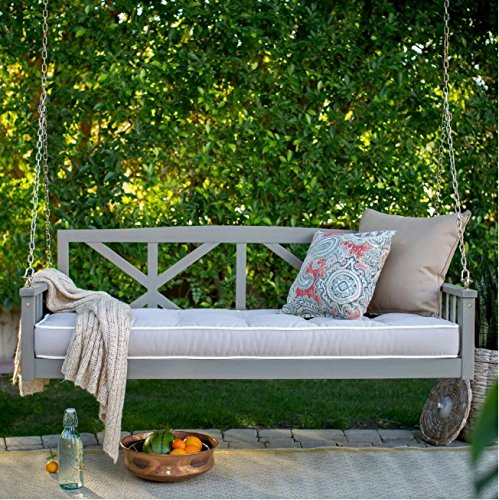 Belham Living Cottonwood Porch Swing Bed Deep Seating