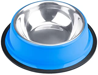Weebo Pets Blue Stainless Steel No-Tip Food Bowls - Choose Your Size, 4-Ounce to 72-Ounce