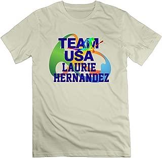 Que87hyky Men's I Love Laurie Hernandez USA Gymnastics 100% Cotton O Neck T-Shirt