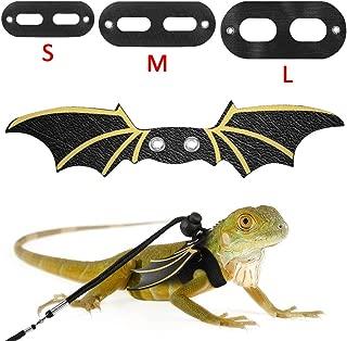 POPETPOP Animal Reptile Harness Angle Wings Shape Adjustable Handmade Lead for Lizard Chameleon Gecko Guinea Pig Ferrets Hamster Rats Walking Training Blue