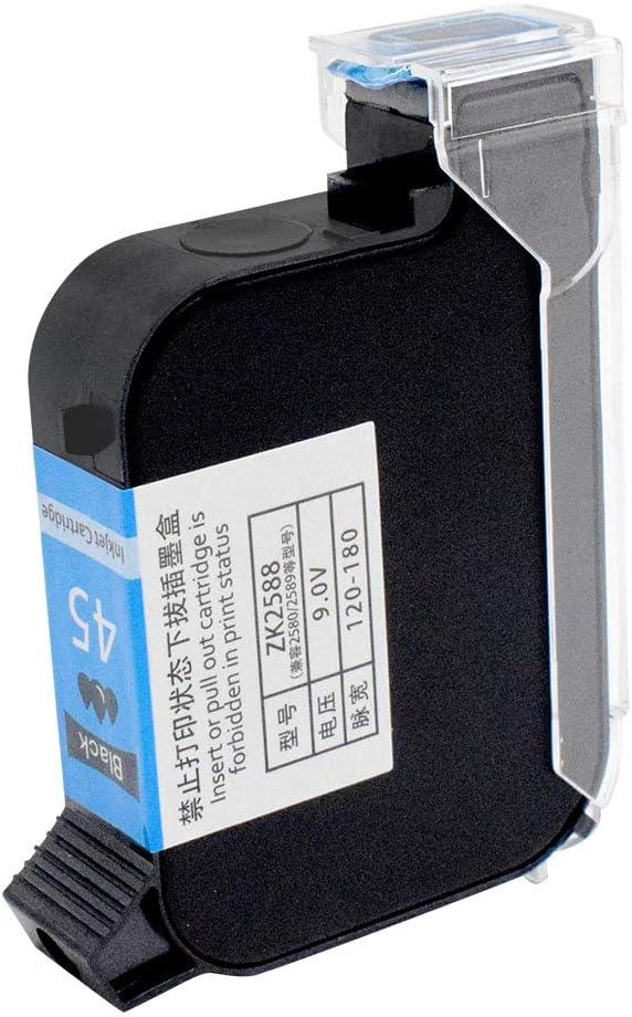 TOAUTO Original Portable Ink Cartridge Quick-Dry Replacement 42ml Ink Cartridge for Handheld Inkjet Printer Coding Machine(Black)